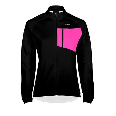 Women's Aerion Jacket - Black/Pink -  Custom Cycling Clothing and accessories online - Primal Europe