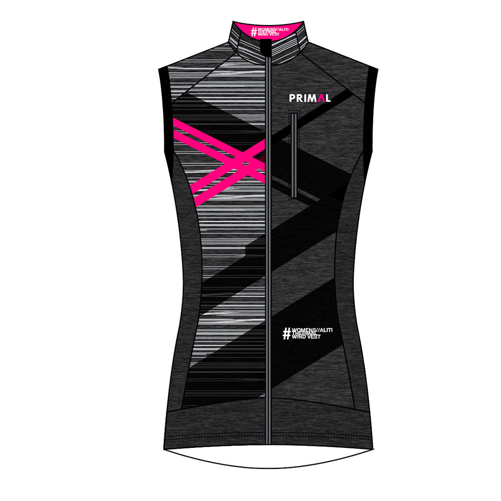 Custom Fit Kit Sizing Pack Women's Aliti Wind Vest -  Custom Cycling Clothing and accessories online - Primal Europe