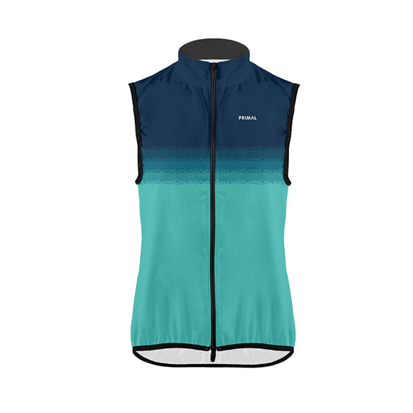 Aqua Women's Wind Vest / Gilet - Primal Europe Cycling clothing