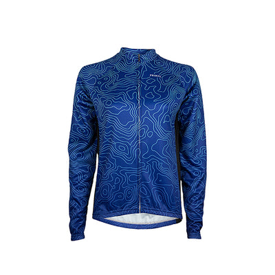 Augusta Blue Women's Heavyweight Cycling L/S Jersey -  Custom Cycling Clothing and accessories online - Primal Europe
