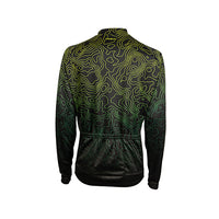 Augusta Heavyweight Long Sleeve Jersey - Green Deep Topography Moss Natural colourway