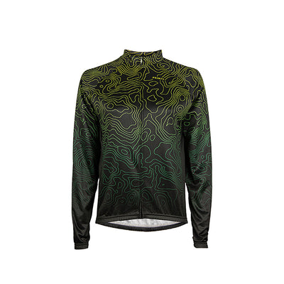 Augusta Green Women's Heavyweight L/S Cycling Jersey -  Custom Cycling Clothing and accessories online - Primal Europe