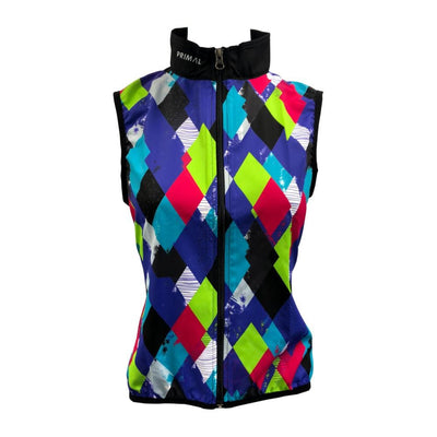 Women's Diamond Geezers Purple Wind Vest - Primal Europe Cycling clothing