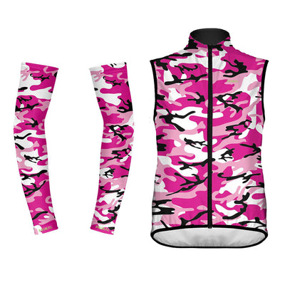 Camo Pink Wind Vest & Arm Warmers (Bundle&Save) -  Custom Cycling Clothing and accessories online - Primal Europe