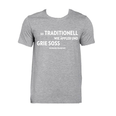 "Eschborn-Frankfurt T-Shirt Grau ""Grie' Soss"" -  Custom Cycling Clothing and accessories online - Primal Europe"
