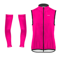 Neon Pink Wind Vest & Arm Warmers (Bundle&Save) -  Custom Cycling Clothing and accessories online - Primal Europe