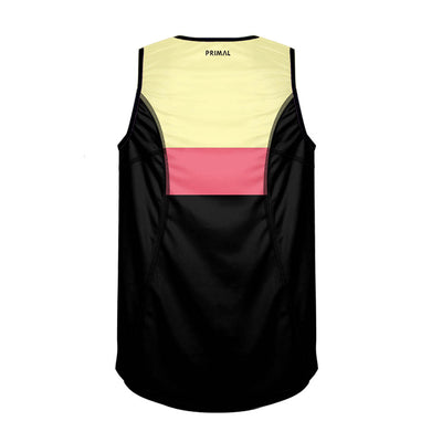 Men's Horizon Yellow Running Vest PREORDER - Primal Europe Cycling clothing