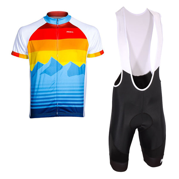 Rise & Set Jersey  & Evo 2.0 Bibs Kit (Bundle&Save) -  Custom Cycling Clothing and accessories online - Primal Europe