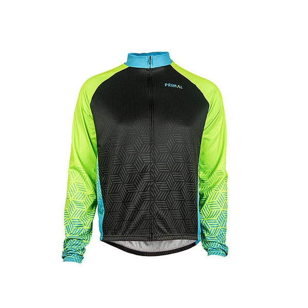 Blackburn Men's Heavyweight Cycling Jersey - Neon Green