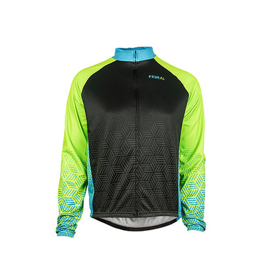 Blackburn Men's Heavyweight Cycling Jersey - Neon Green - Primal Europe Cycling clothing