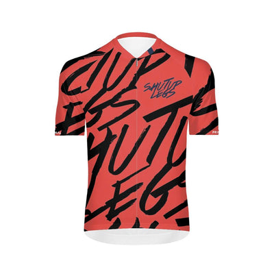 PRE-ORDER Shut Up Legs Overprint Coral Men's Omni Jersey -  Custom Cycling Clothing and accessories online - Primal Europe