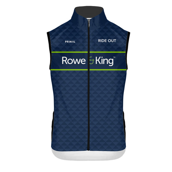 Rowe & King 4 Pocket Wind Vest -  Custom Cycling Clothing and accessories online - Primal Europe