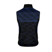 Stirling Men's Wind Vest / Gilet - wind water resistant - navy blue black stripe colourway