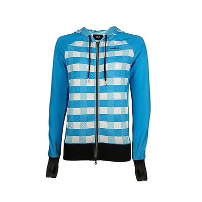 Women's Shasta Traceuse Hoodie - Blue -  Custom Cycling Clothing and accessories online - Primal Europe