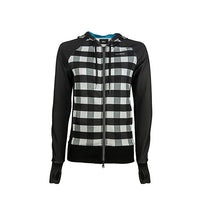 Women's Shasta Traceuse Hoodie - Black & White -  Custom Cycling Clothing and accessories online - Primal Europe