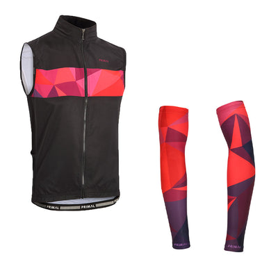Triangular 4 Pocket Wind Vest & Arm Warmers (Bundle&Save) -  Custom Cycling Clothing and accessories online - Primal Europe