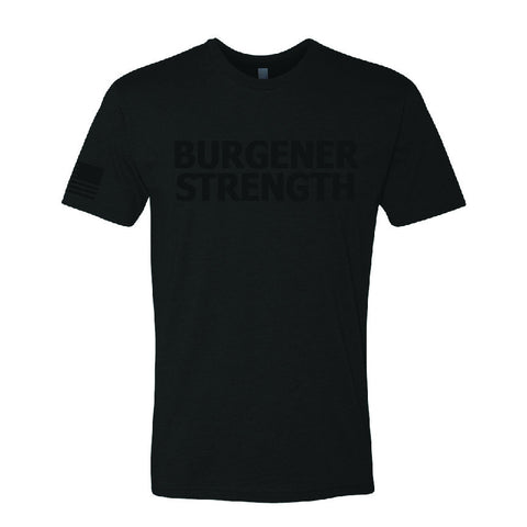 Burgener Strength Black Out Shirt