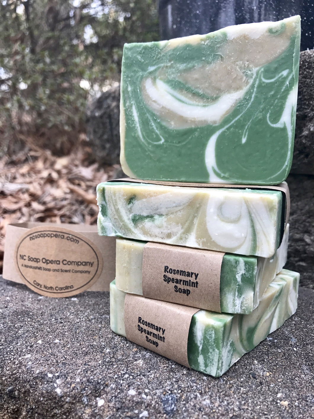 **Available August 1, 2017**  Rosemary Spearmint Soap