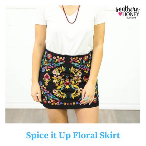 Spice It Up With Floral Skirt