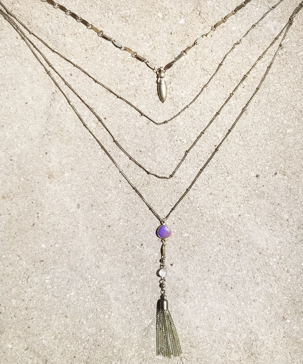 The Purple Boho Necklace