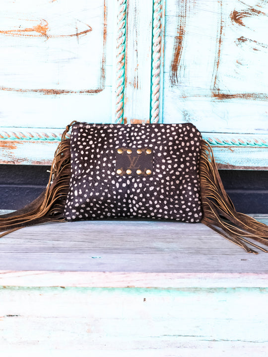 The Alexis Axis Fringe Wristlet
