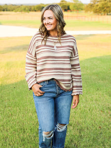 The Sally Striped Knit Top