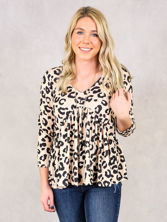 Blushing In Leopard Top