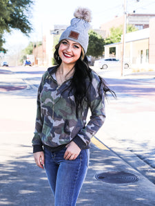 Camo Zip Up Long Sleeve