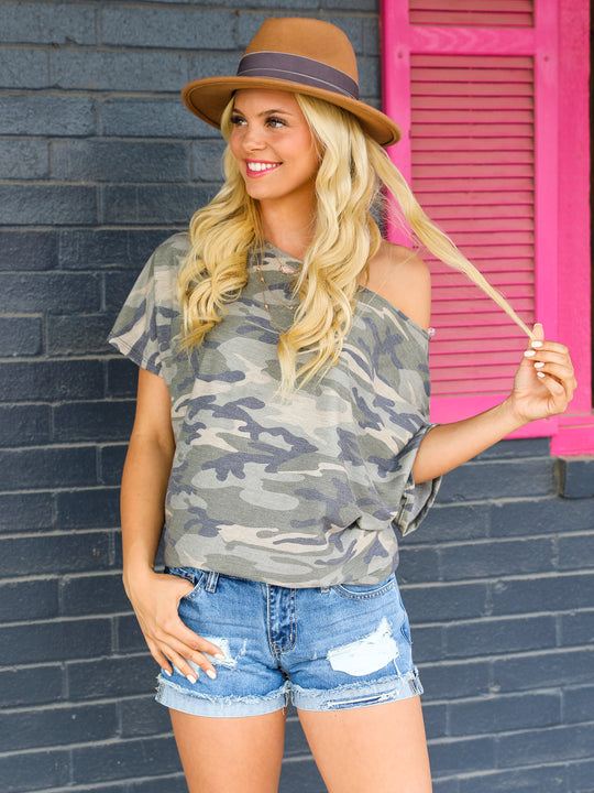 The Shana Camo Top
