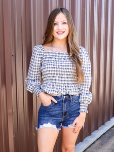 *The Anne Button Down Top