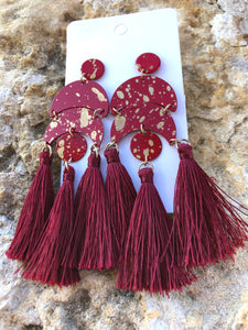 The Red Tassel Earrings