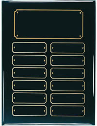 Ebony Perpetual Plaque | 12 or 24 name plate