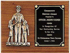 Police Plaque | Engraved Plate
