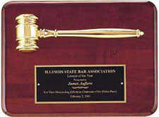 Rosewood gavel plaque from Awards2you