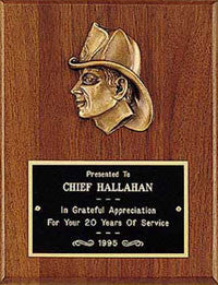 Fireman Plaque II | Cast Metal