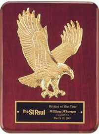 Rosewood eagle plaque