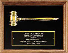 Walnut framed gavel plaque  from awards2you