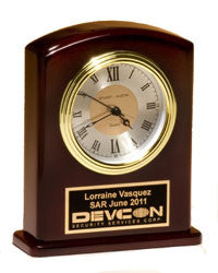 Rosewood Mantle Clock | Mantle Award Clock