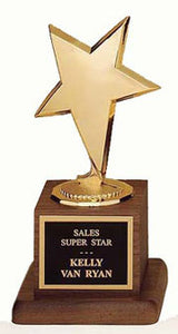 Modern Star Award | Walnut Base