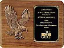 Walnut Large Eagle Plaque | Custom Engraved Plate