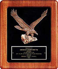 Walnut Framed Eagle plaque from awards2you