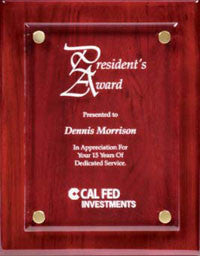 rosewood plaque with acrylic front from awards2you