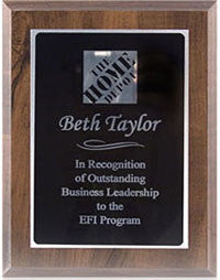 Silver engraved plaque | Custom Plaque
