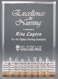 Gold Mirage Acrylic Award | Custom Engraved Acrylic Award