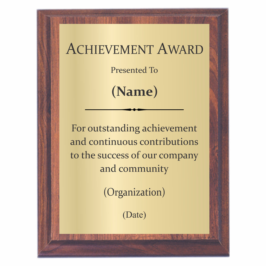 Achievement Awards | Achievement Plaques – Awards2You