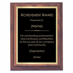 Achievement Premier Award Plaque