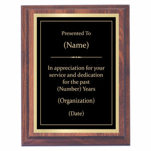 Appreciation Premier Award Plaque