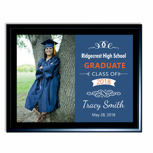 Graduation Plaque with full color photo on color background