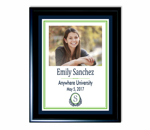 Graduation Plaque with monogram