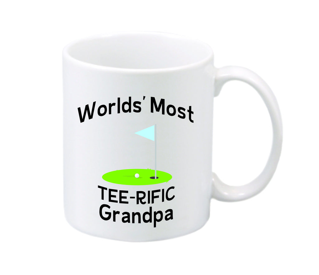 World's Most Tee-rific Grandpa Mug